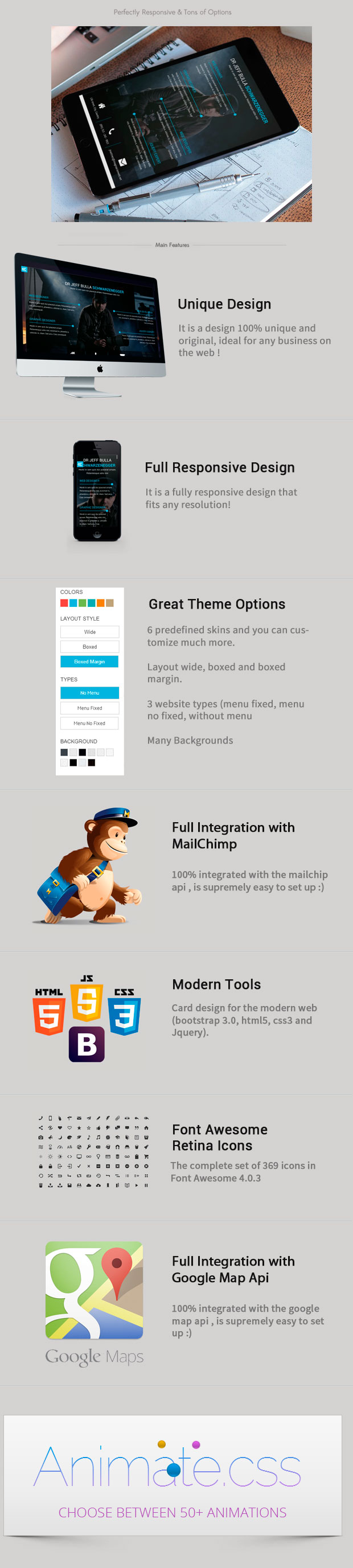Card- Resume, Blog Html5/Css3 Bootstrap Template